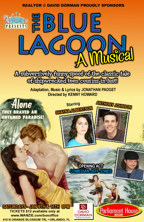 "Orlando poster for ""The Blue Lagoon: A Musical"""